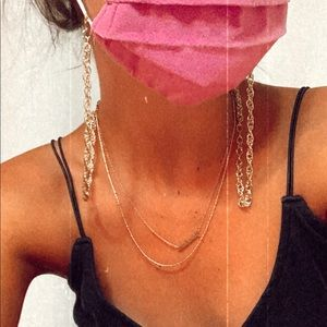 Gold Mask Necklaces ✨
